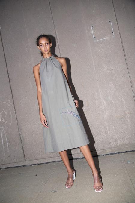 Nomia Halter Dress - Stone
