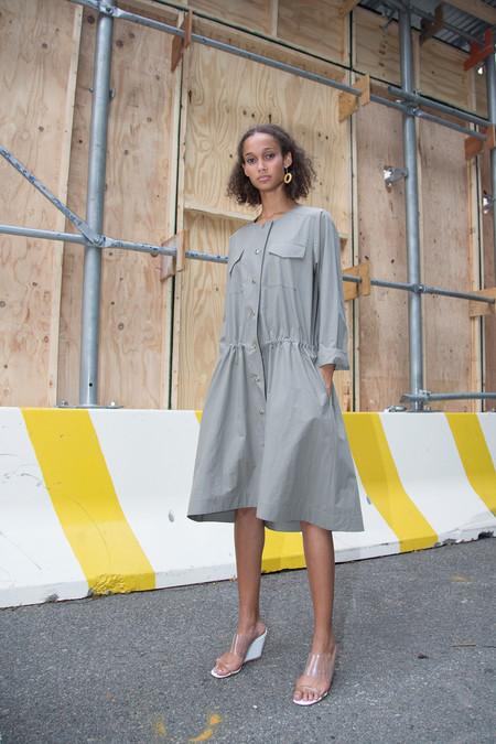 Nomia Snap Front Dress - Stone