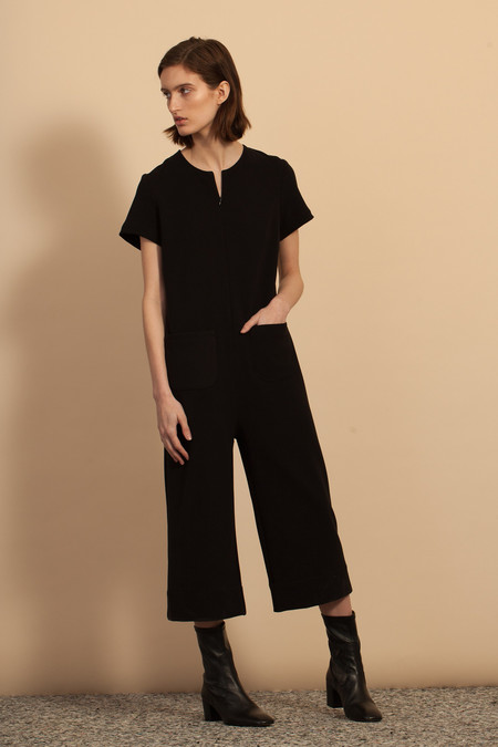 Nomia SS Cropped Jumpsuit - Black