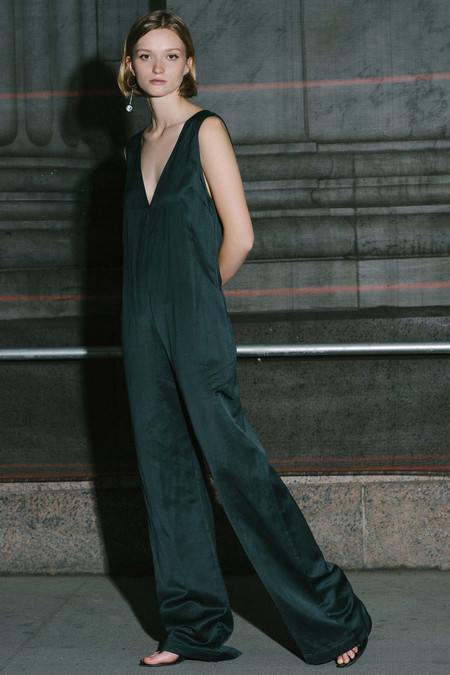 Nomia V Neck Jumpsuit - Loden