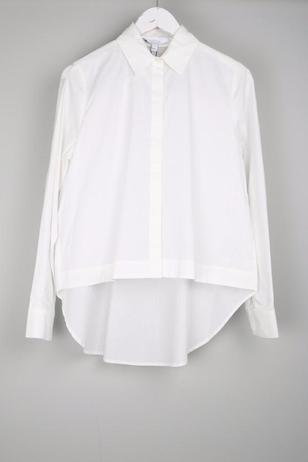 10 Crosby by Derek Lam Shirt W/ Back Tail White