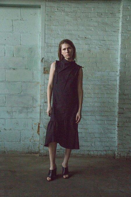 Kahle Cowl Neck Drawstring Dress