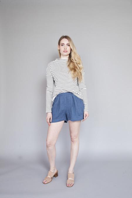 Valérie Dumaine Valerie Dumaine – Ridge Shorts Indigo
