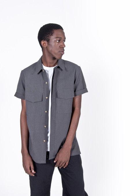 Aimé Leon Dore Safari Shirt Charcoal