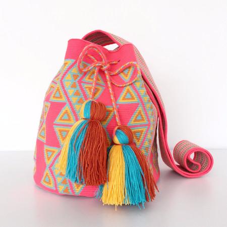 Shop Mariya Neon Pink Mochila - L