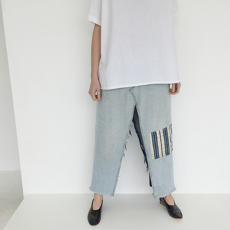 Johan Vintage Re-worked Denim Skirt Pant