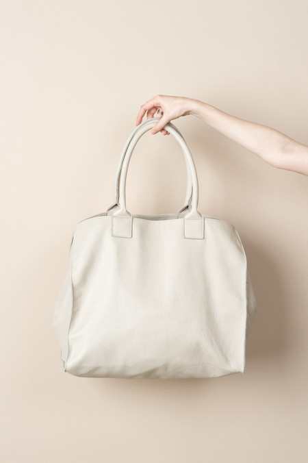 GREI Raw Edge Leather Relaxed Tote