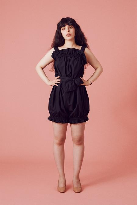 Samantha Pleet Blossom Romper - Black