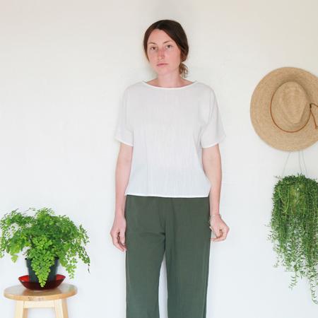 Me & Arrow Sleeve Tee - Ivory Cotton