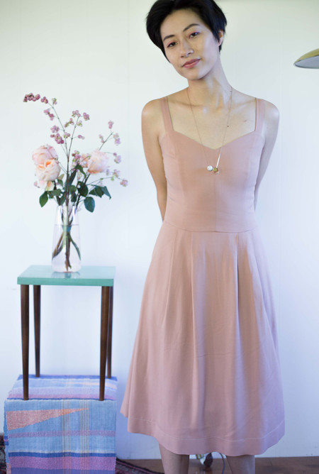 Birds of North America Plumeleteer Dress - Blush