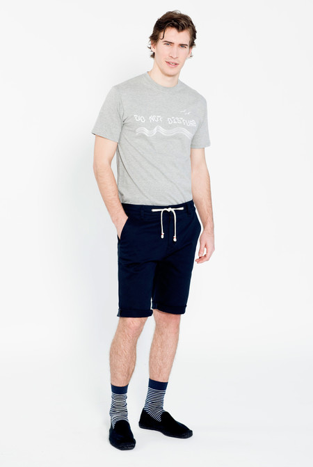 of sharks and men NAVY LOGAN SHORTS