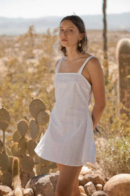 Lykke Wullf White Embroidery Rachel Dress