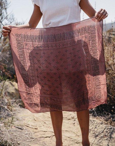 Ozma of California 1930's Washed Silk Bandana