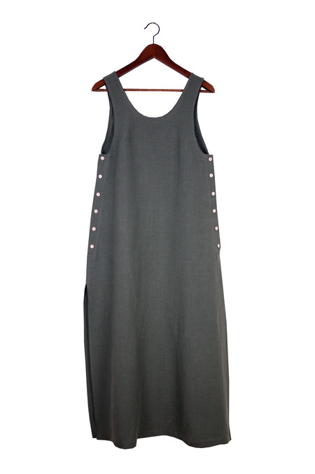 Ilana Kohn Jayna Dress, Graphite, Washed Linen