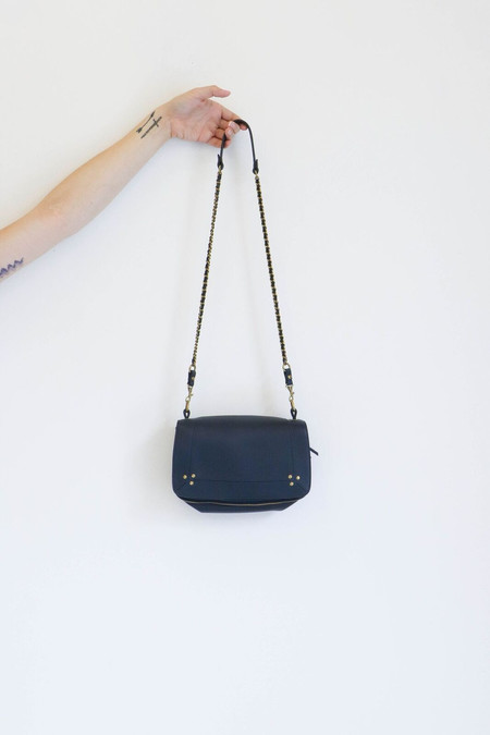 Jerome Dreyfuss Bobi Bag in Marine Calfskin