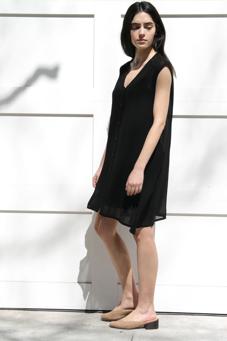 LACAUSA SLEEVELESS CAFE DRESS