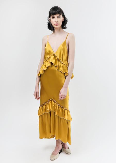 Arcana NYC Turmeric Lilith Convertible Slip Dress