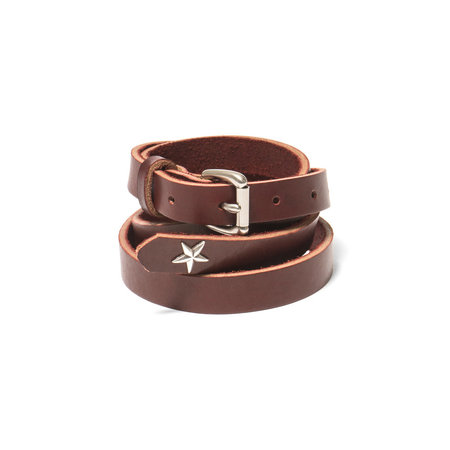 Maple Long Belt (Star Concho) - Burgundy