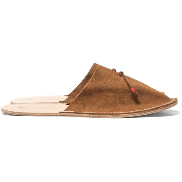 Maple Home Slippers Suede Tan