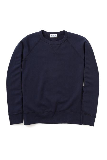 Velva Sheen Cotton Raglan Sweatshirt - Indigo