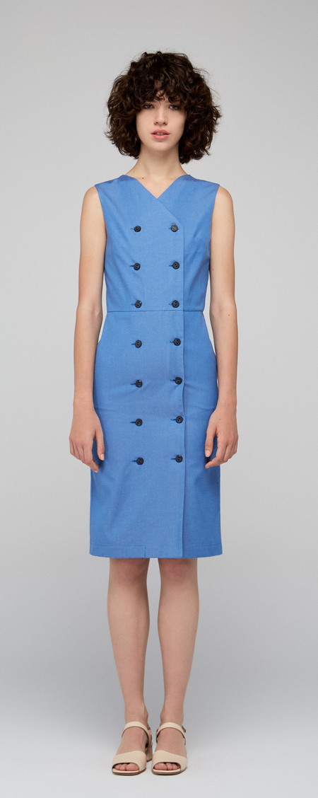 "Diarte ""Barret"" Blue Stretch Vest Dress"