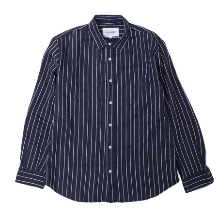 Corridor Wavy Navy Stripe Long Sleeve