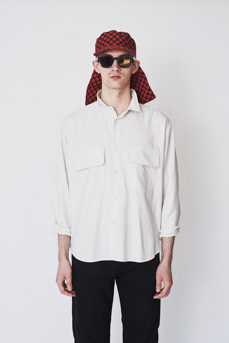 Assembly New York Cotton Diamond Print Poet Shirt