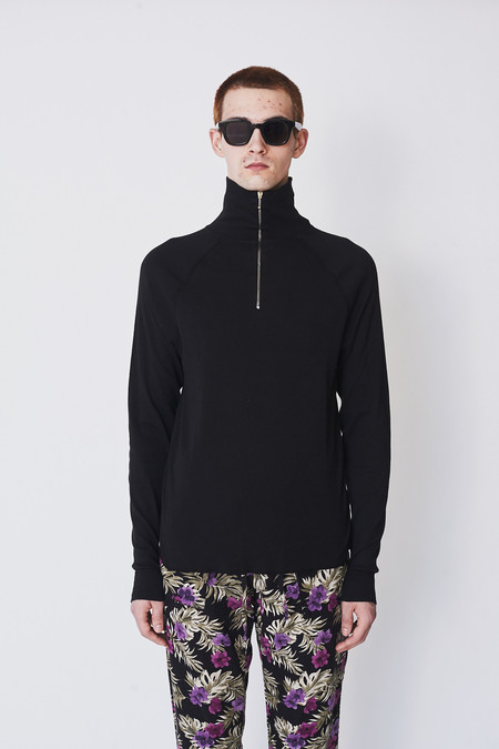 Our Legacy Cotton Half Zip Funnel Top