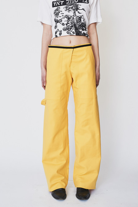 Assembly New York Cotton Twill Simple Pant - Yellow