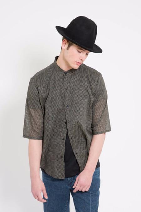 Assembly New York Non Collar Black Hokkah Shirt