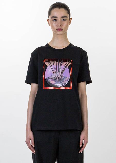 Carven Black Castle Print T-Shirt