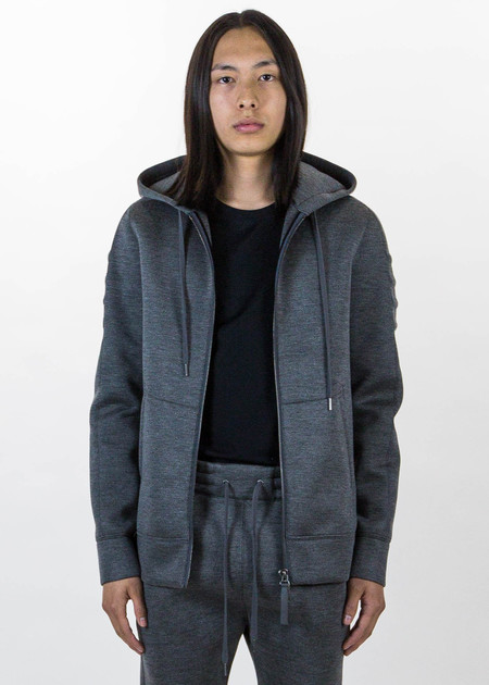 Helmut Lang Dark Charcoal Tape Zip Up
