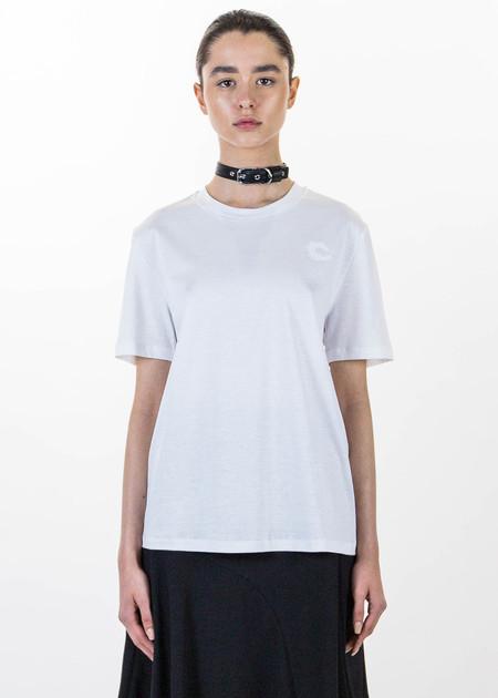 Carven White Choker T-Shirt