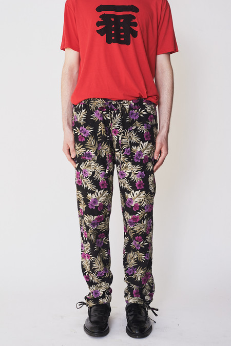 Unisex ZED Linen Floral Trouser