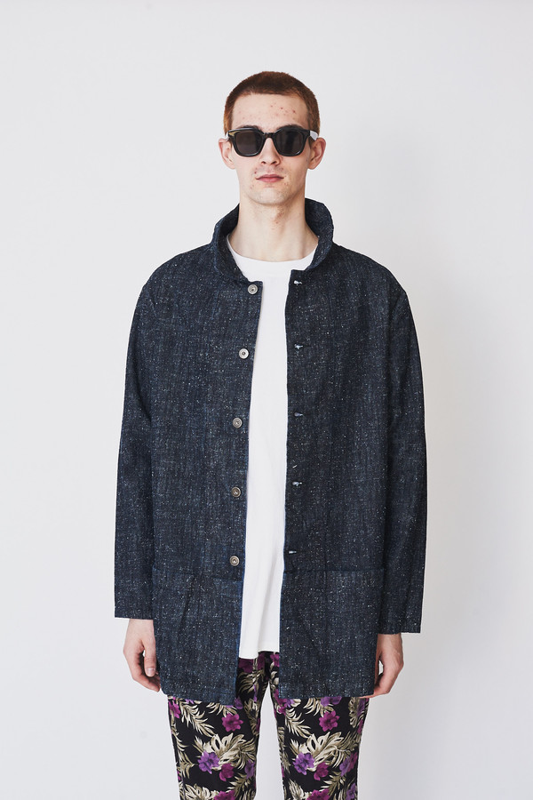 Unisex ZED Silk / Cotton Long Catchall Jacket