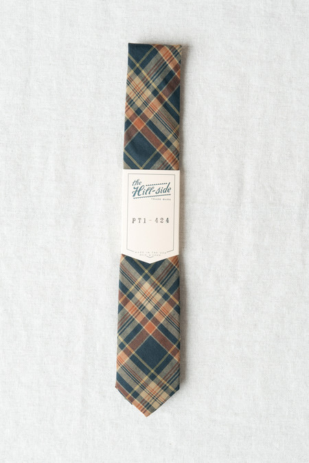 The Hill-Side/Hickoree's Standard Tie Indian Madras In Orange