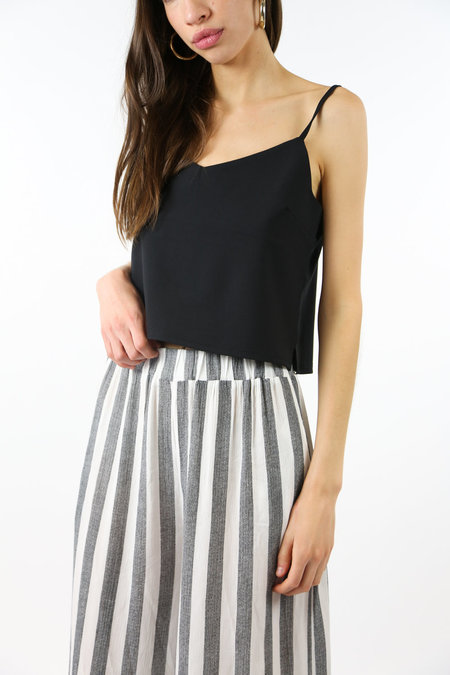 Side Party Layer Up Relaxed Tank - Black