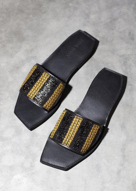 Parme Marin Rajah square toe slides