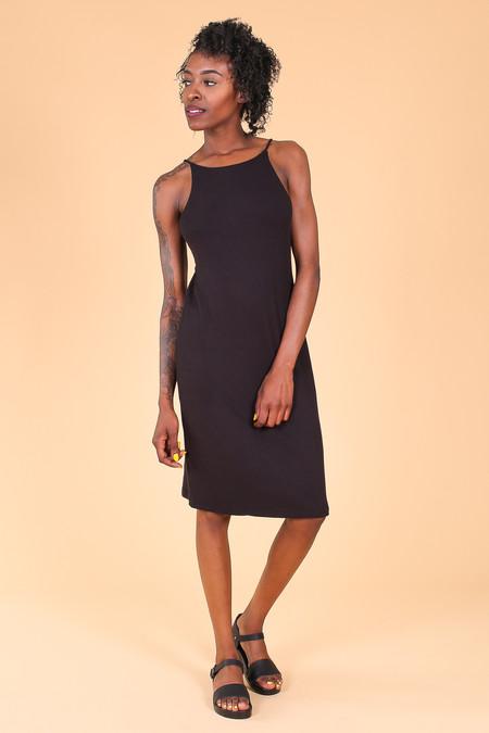 First Rite Rib Camisole Dress In Black
