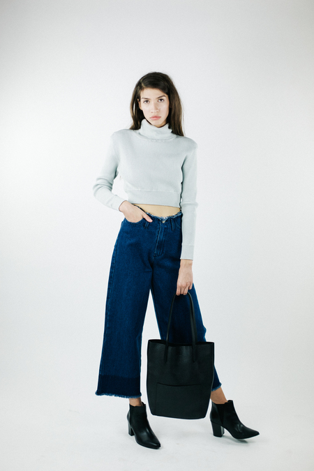 Achro Wide Leg Frayed Denim
