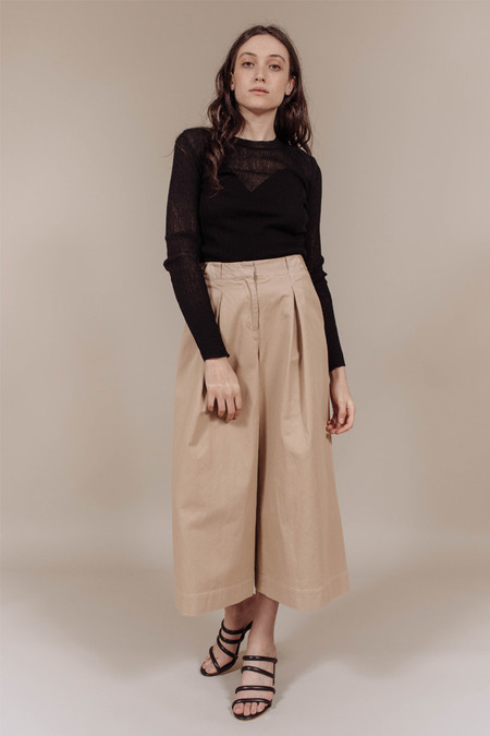 SVILU Wide Leg Pant in Cotton Twill