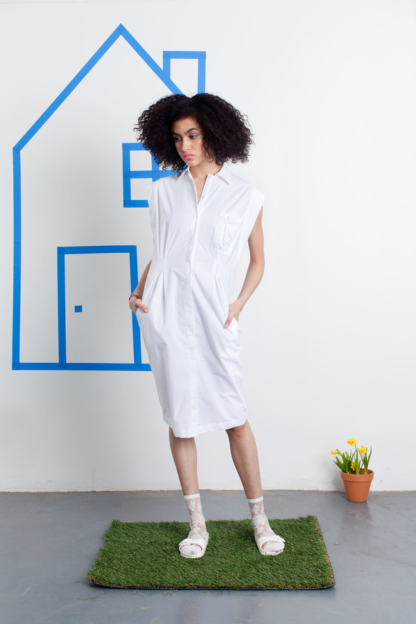 Tia Cibani Button Down Shirt Dress