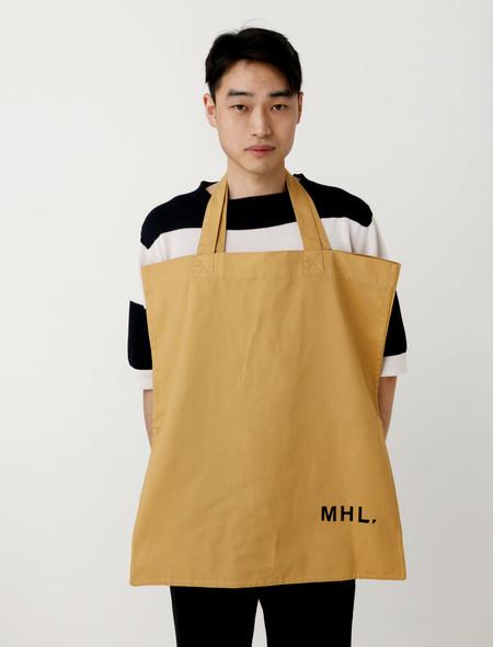 Margaret Howell MHL Logo Bag Light Cotton Drill Mustard