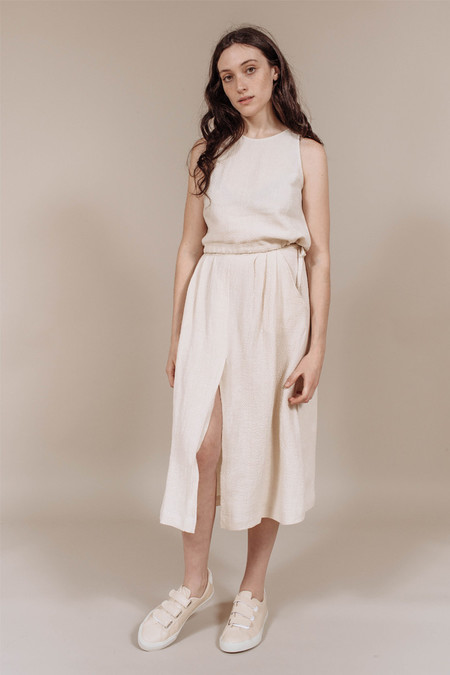 First Rite Pleated Skirt in Khaki