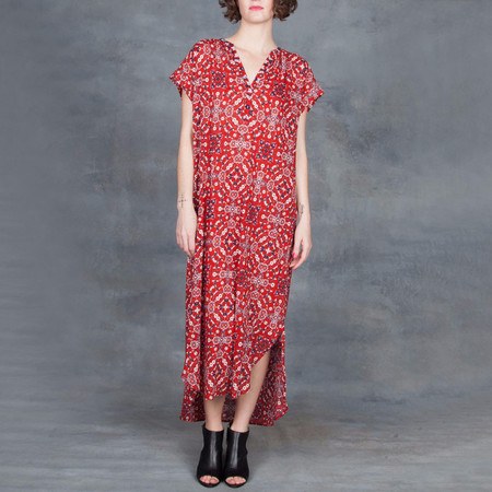 Xirena Kennedy Maxi Dress in Rouge Island Gauze Print