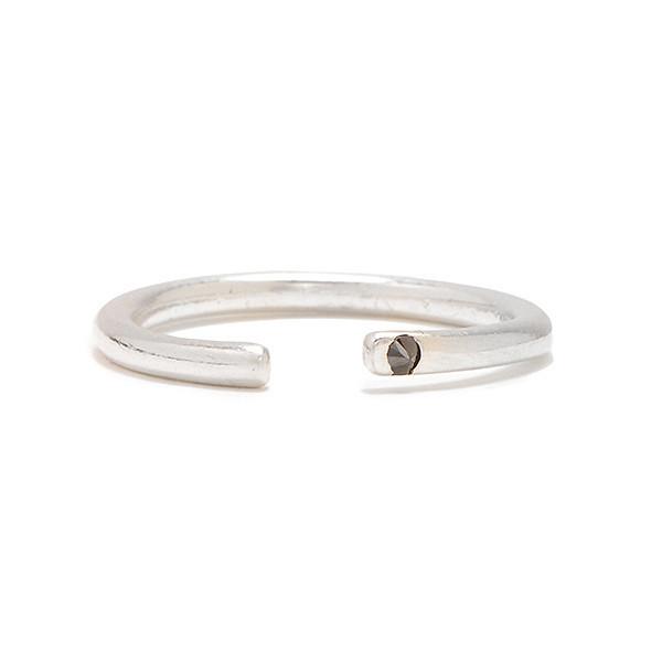 Tarin Thomas Riley Silver and Black Diamond Midi Ring