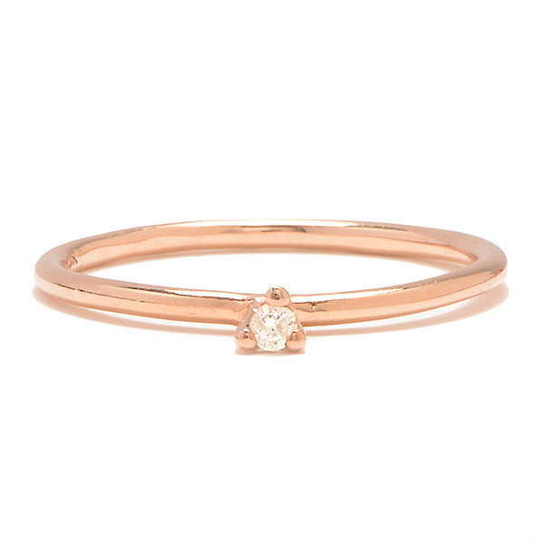 Tain Thomas Taylor Rose Gold and White Diamond Ring