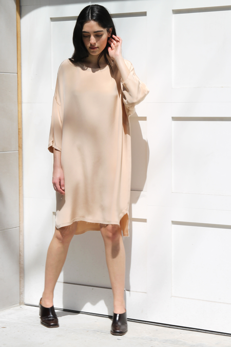 HOUSE DRESS RAW EDGE BOX DRESS