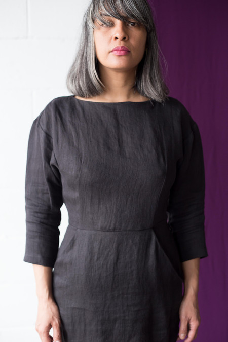 Valérie Dumaine Garland Dress - Black