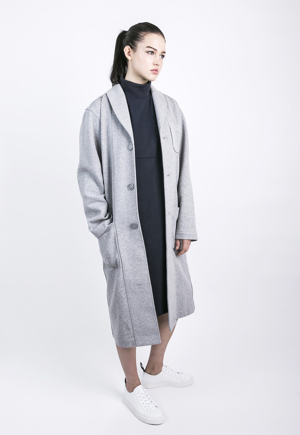 Unisex Tailored Grey Top Coat
